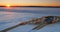 В Омске под лед Иртыша провалилась иномарка с водителем