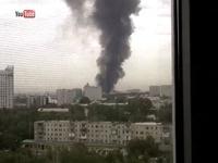 В Алма-Ате восьмиэтажный дом загорелся от взрыва бензовоза