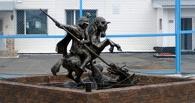 В Омске заключённые изваяли из цемента Георгия Победоносца