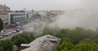 В центре Омска горят бывшие склады минобороны (ВИДЕО)