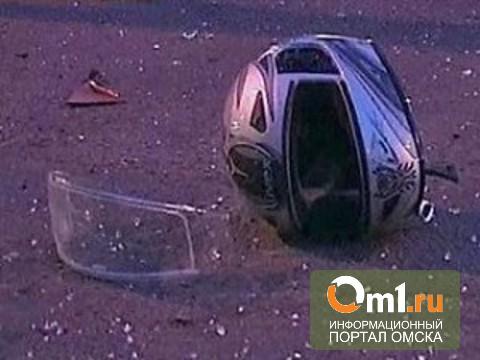 В Омске студент-мотоциклист врезался в иномарку