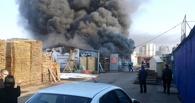 В Омске горел рынок на Левобережье