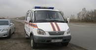 В Омской области из-за урагана остановка рухнула на девушку