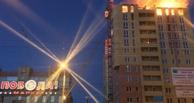 В центре Омска вспыхнула строящаяся 16-этажка (ФОТО,ВИДЕО)
