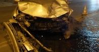 Омская автоледи не хотела уступать дорогу и разбила свой Nissan
