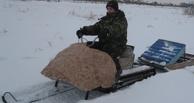 Бывший сотрудник омской мэрии собрал из старой кровати снегоход (фото)