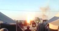 Очевидцы выложили видео взрыва танка на Украине