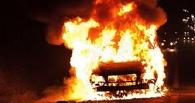 На трассе Омск-Тюмень горел Volvo: водитель потушил авто снегом