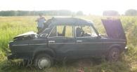 Под Омском пьяный водитель без прав улетел в кювет – пять человек пострадали