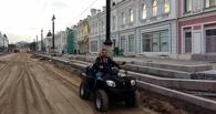 Бизнесмен Стрельников проехался по Любинскому проспекту на квадроцикле