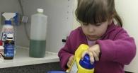 В Омской области на выходных 2-летняя девочка хлебнула «Белизны»