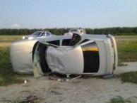 В Омской области перевернулся автомобиль