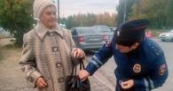 В Омске пожилым пешеходам подарили световозвращающие «украшения»
