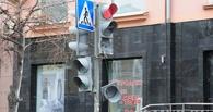 Ураган в Омске: восемь светофоров упало, семь повреждены