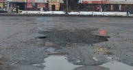 В Омске на дороге образовался еще один провал
