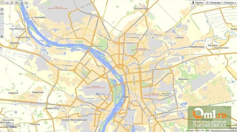 Яндекс обновил карту Омска