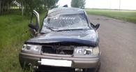 Под Омском погиб водитель легковушки, опрокинувшейся в кювет и врезавшейся в дерево