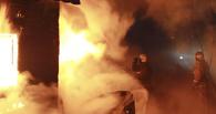 В Омской области сгорел саманный дом