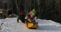 В Омске прошли crazy-гонки на бананах и ломтиках сыра